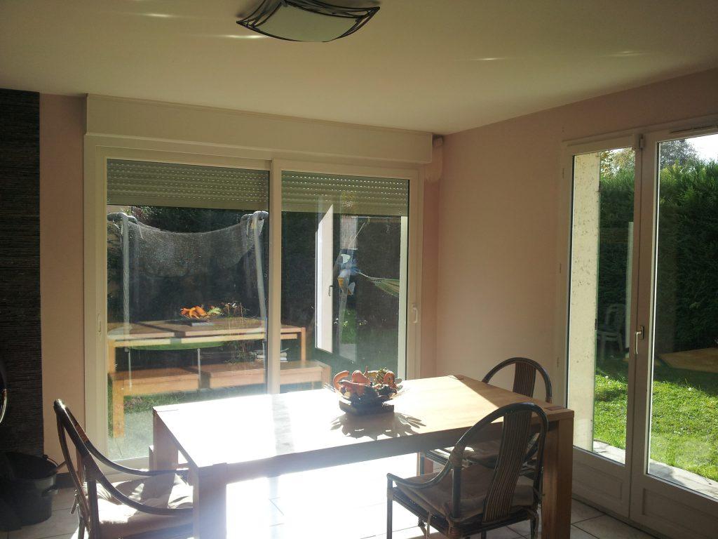 cr ation d 39 une baie vitr e pour une maison situ e marcoussis artech habitat. Black Bedroom Furniture Sets. Home Design Ideas