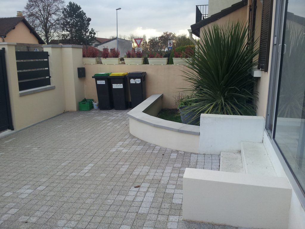 cr ation parking terrasse en essonne villiers sur orge artech habitat. Black Bedroom Furniture Sets. Home Design Ideas