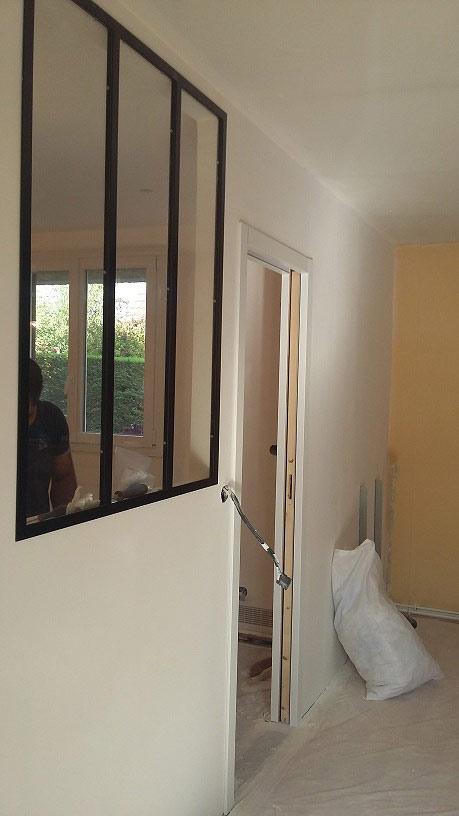r novation d 39 une cuisine et installation d 39 une verri re dans l 39 essonne. Black Bedroom Furniture Sets. Home Design Ideas