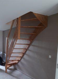 Changement de sens d'un escalier et pose d'un escalier contemporain