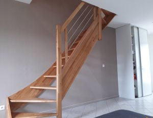 Escalier contemporain pour un duplex