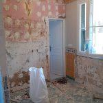 Salle de bains pendant les travaux